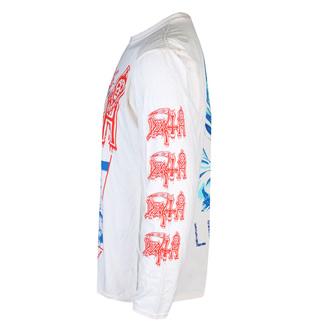 Maglietta da uomo a maniche lunghe DEATH - LEPROSY BLUE & RED (WHITE) - PLASTIC HEAD, PLASTIC HEAD, Death