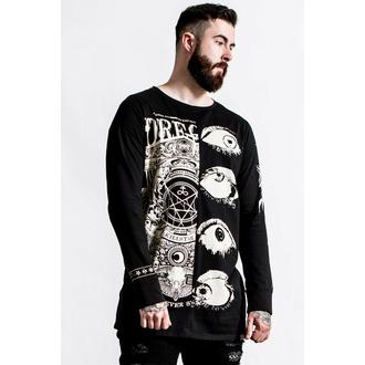 Maglietta da uomo a maniche lunghe KILLSTAR - Insomnia Longline Split - Top - nero, KILLSTAR