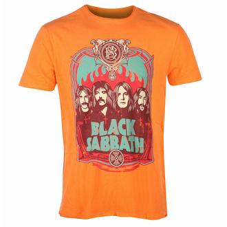 maglietta da uomo BLACK SABBATH - FLAMES - ORANGE CRUSH - AMPLIFIED, AMPLIFIED, Black Sabbath