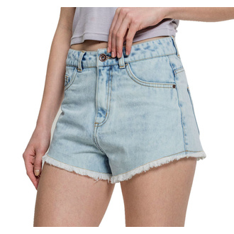 Pantaloncini da donna URBAN CLASSICS - Denim Hotpants - blu sbiancato, URBAN CLASSICS