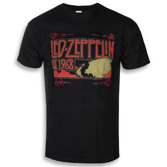 t-shirt metal uomo Led Zeppelin - Zeppelin & Smoke Black - NNM, NNM, Led Zeppelin