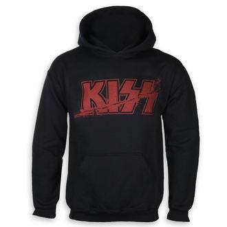 felpa con capuccio uomo Kiss - Slashed Logo - ROCK OFF, ROCK OFF, Kiss