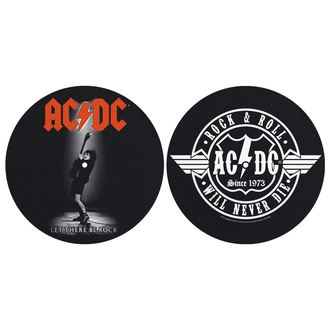 Tappetini per grammofono (set 2pcs)  AC  /  DC  - LET THERE BE ROCK! ROCK AND ROLL - RAZAMATAZ, RAZAMATAZ, AC-DC