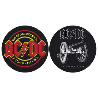 Tappetini per grammofono (set 2pcs) AC  /  DC  - FOR THOSE MOUT TO ROCK - ALTA VOLTAGGIO - RAZAMATAZ, RAZAMATAZ, AC-DC