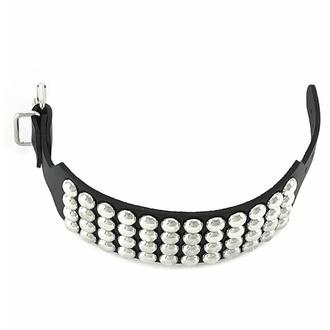 Bracciale NERO SERPENTE CON BORHCIE (4 file), Leather & Steel Fashion