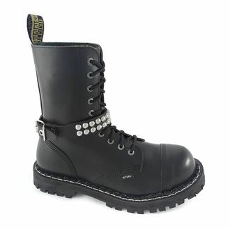 Collare / Decorazione per scarpe con borchie (2 file) - LSF3 14