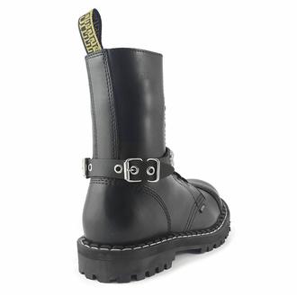Collare / Decorazione per scarpe con borchie (2 file), Leather & Steel Fashion