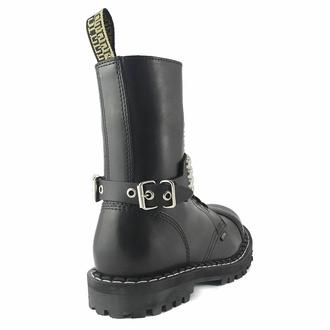 Collare / Decorazione per scarpe con borchie (4 file), Leather & Steel Fashion