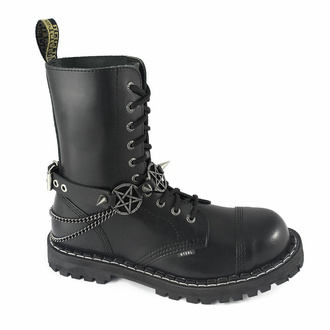Collare / Decorazione per scarpe con tripla catena, Leather & Steel Fashion