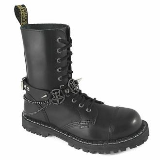 Collare / Decorazione per scarpe con tre catene , Leather & Steel Fashion