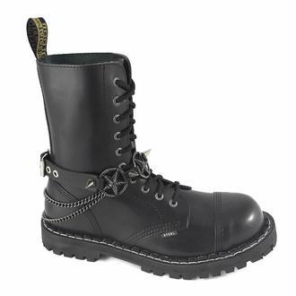 Collare / Decorazione per scarpe con doppia catena, Leather & Steel Fashion