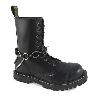 Collare / Decorazione per scarpe Baphomet Rings, Leather & Steel Fashion