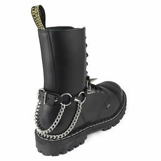 Collare / Decorazione per scarpe con doppia catena e borchie, Leather & Steel Fashion