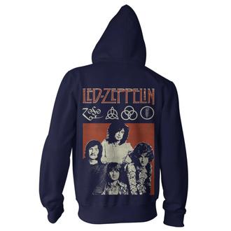 Felpa con cappuccio da uomo Led Zeppelin - Photo Navy, NNM, Led Zeppelin