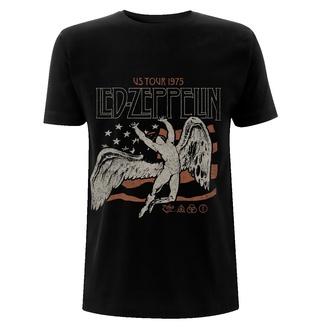 maglietta Led Zeppelin - US 1975 Tour Flag - Nero, NNM, Led Zeppelin