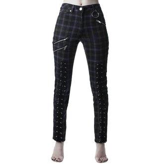 pantaloni KILLSTAR - Mazzy Lace-Up - TARTAN, KILLSTAR