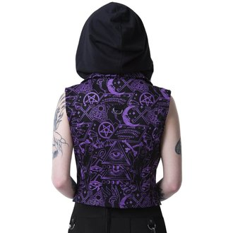 gilet - MISS MORBID CROPPED BIKER - KILLSTAR