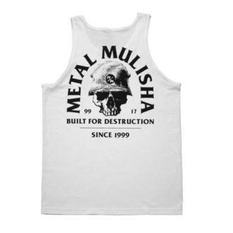 top Uomo METAL MULISHA - BUILT - WHT, METAL MULISHA