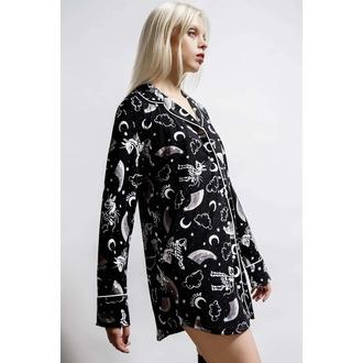 Camicia da donna (pigiama) KILLSTAR - Moonbow Sleep - Nero, KILLSTAR