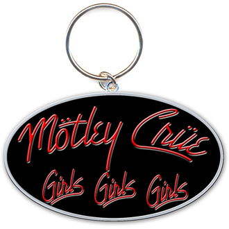 portachiavi - ciondolo Mötley Crüe (Girls, Girls, Girls Logo) - ROCK OFF, ROCK OFF, Mötley Crüe