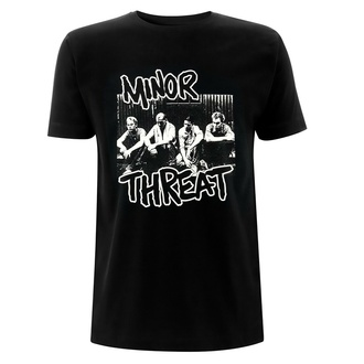 Maglietta da uomo Minor Threat - Xerox - Nero, NNM, Minor Threat