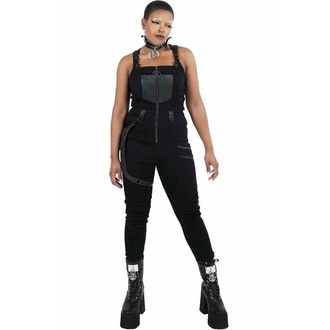 Pantaloni da donna KILLSTAR - Nicolette Salopette - Nero, KILLSTAR
