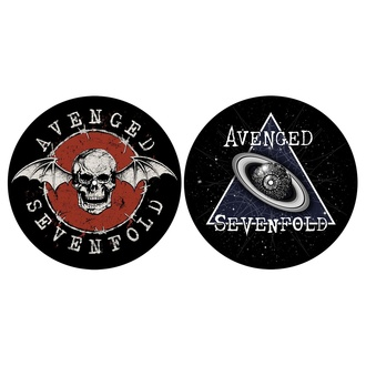 Pad del giradischi (set 2pcs) AVENGED SEVENFOLD - TESCHIO / SPAZIO - RAZAMATAZ, RAZAMATAZ, Avenged Sevenfold