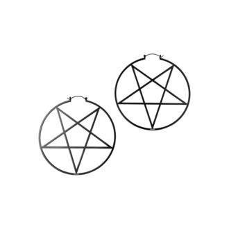 Orecchini KILLSTAR - Pentagram Hoop - Nero, KILLSTAR
