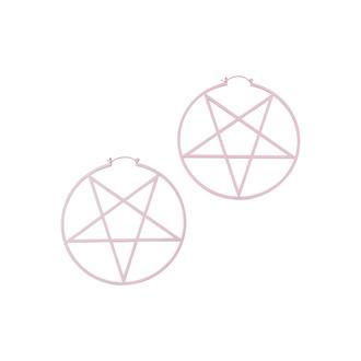 Orecchini KILLSTAR - Pentagram Hoop - Pastello Pink, KILLSTAR