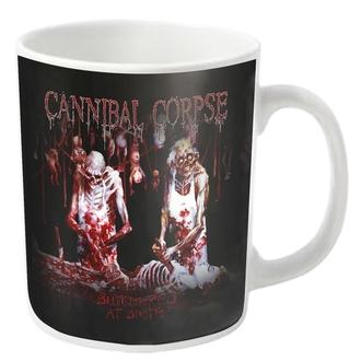 tazza  CANNIBAL CORPSE - BUTCHERED - bianca - PLASTIC HEAD, PLASTIC HEAD, Cannibal Corpse