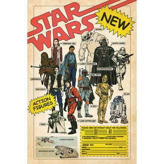Poster STAR WARS - ACTION FIGURES - PYRAMID POSTERS, PYRAMID POSTERS, Star Wars