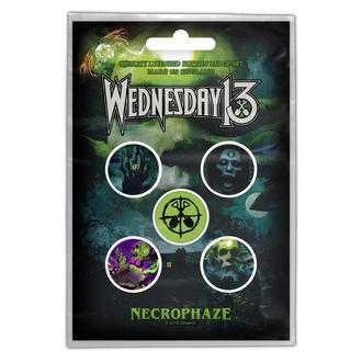 Distintivi WEDNESDAY 13 - NECROPHAZE - RAZAMATAZ, RAZAMATAZ, Wednesday 13