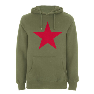 felpa con capuccio uomo Rage against the machine - Red Star Olive - NNM, NNM, Rage against the machine