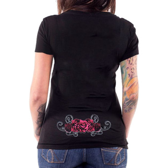 t-shirt hardcore donna - ANGEL RED CATRINA BLACK - LETHAL THREAT, LETHAL THREAT