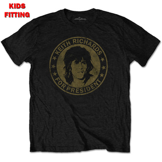 t-shirt metal bambino Rolling Stones - Keith For President - ROCK OFF, ROCK OFF, Rolling Stones