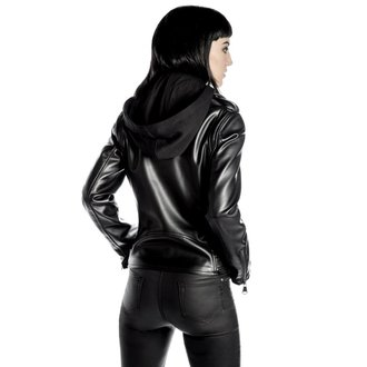 giacca di pelle donna - Ruth Less Veganomicon Biker - KILLSTAR, KILLSTAR