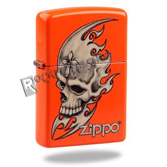 accendino ZIPPO - SKULL HEAD - NEON ARANCIA, ZIPPO