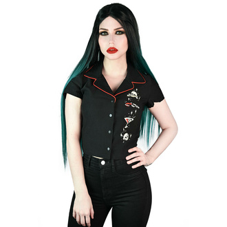 Camicia da donna KILLSTAR - Lei Devil - Crop Bowling - Nero, KILLSTAR