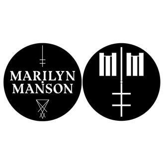 tappetini per Grammofono (set di 2 pezzi) Marilyn Manson - Logo /  Croce  - RAZAMATAZ, RAZAMATAZ, Marilyn Manson