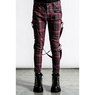 Pantaloni da uomo KILLSTAR - Sonic Doom Jeans - Blood Tartan, KILLSTAR