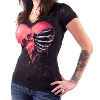 t-shirt hardcore donna - ANGEL RIBCAGE HEART - LETHAL THREAT, LETHAL THREAT