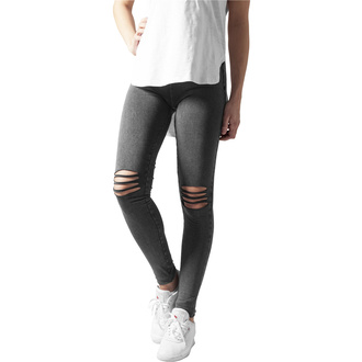 Leggins da donna URBAN CLASSICS - Cutted Knee Leggings - nero, URBAN CLASSICS