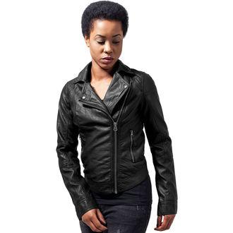 giacca primaverile / autunnale donna - Leather Imitation Biker - URBAN CLASSICS