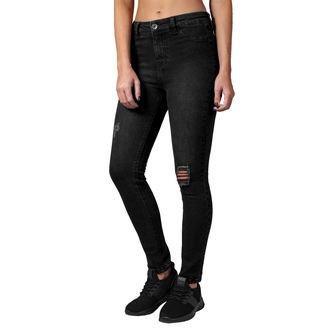 pantaloni URBAN CLASSICS - High Waist - nero lavato, URBAN CLASSICS