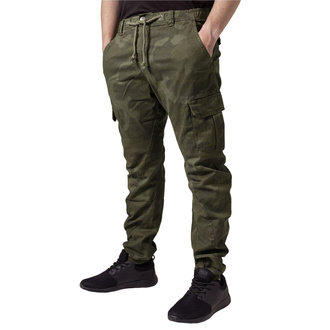 Pantaloni da uomo URBAN CLASSICS - Camo Cargo Jogging - oliva camo, URBAN CLASSICS