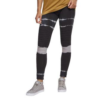 pantaloni (ghette) URBAN CLASSICS - Tie Dye Biker - blk / lt.grey, URBAN CLASSICS
