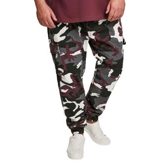 Pantaloni da uomo URBAN CLASSICS - Camo Cargo Jogging - vino camo, URBAN CLASSICS