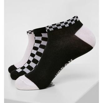 calzini (set di 3 coppie) URBAN CLASSICS - Sneaker Checks 3-Pack - nero / bianco, URBAN CLASSICS