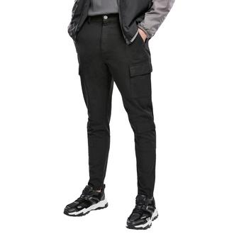 Pantaloni da uomo URBAN CLASSICS - Tapered Double Cargo - nero, URBAN CLASSICS