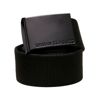 cintura URBAN CLASSICS - Coloured Buckle Canvas - nero, URBAN CLASSICS